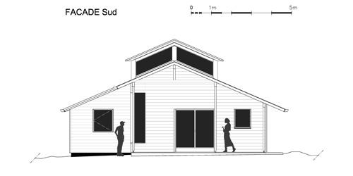 Maison individuelle            à Jouhet : Façade Sud
