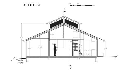 Maison individuelle            à Jouhet : Coupe TT'