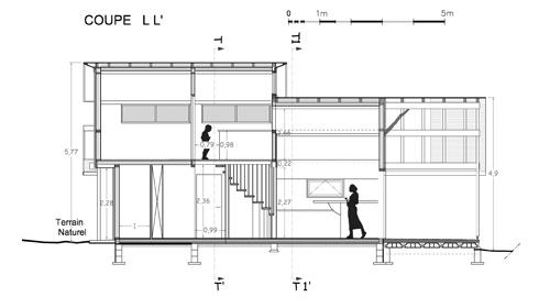 Maison individuelle            à Jouhet : Coupe LL'