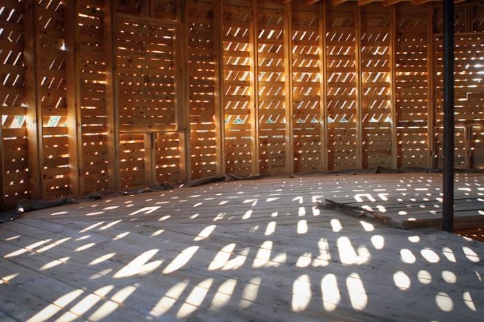 Beedomus maison ronde ossature bois , concours TADI
