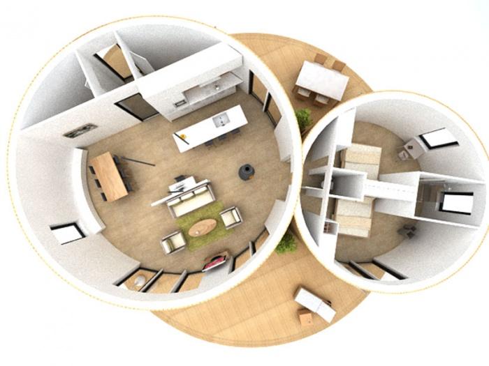 beedomus maison ronde ossature bois concours tadi mios une r alisation de a un fil. Black Bedroom Furniture Sets. Home Design Ideas
