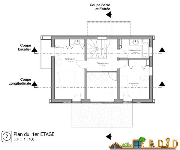 Maison 'Coeur de soleil' : Plan Etage