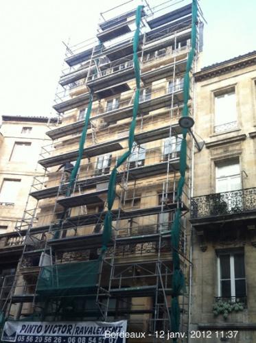 Ravalement d'un immeuble - BORDEAUX : TRAVAUX
