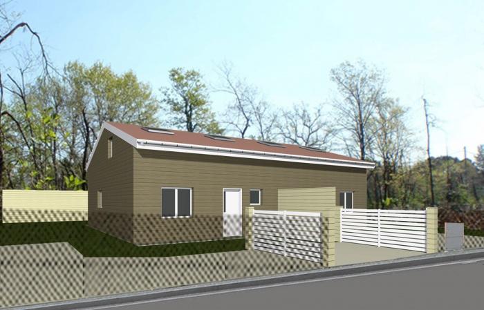 Construction de 2 maison bois jumellées