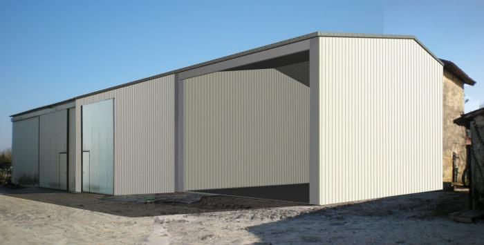 Extension d'un hangar agricole