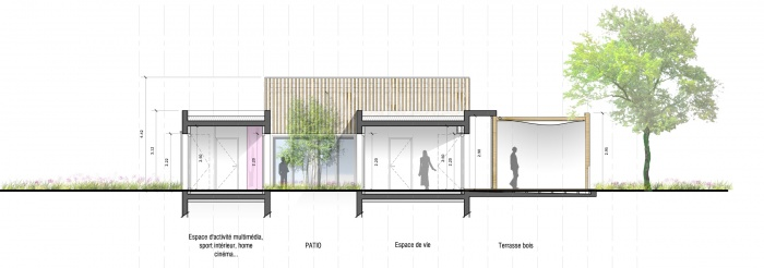 Un projet réalisé par Yvain RENARD Le Coin de la La Rue - Architecture & Urbanisme