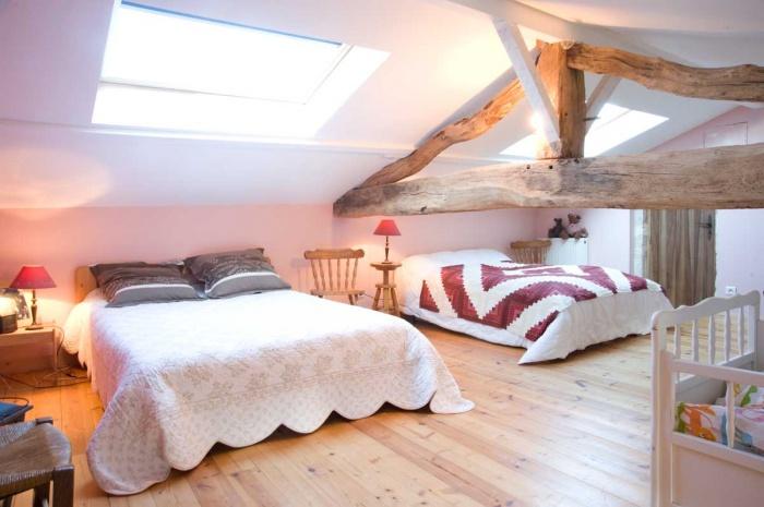 Rénovation d'une Ferme Charentaise : dortoir c