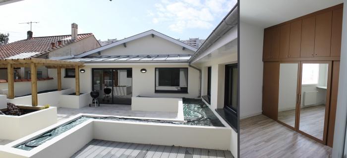 Réhabilitation d'une échoppe double avec patio : patio 1bisderssing