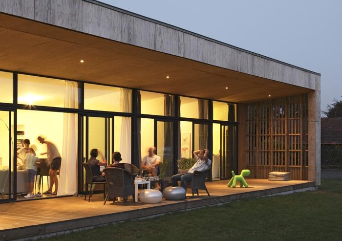 maison de buch biscarrosse une r alisation de brachard de tourdonnet architectes. Black Bedroom Furniture Sets. Home Design Ideas