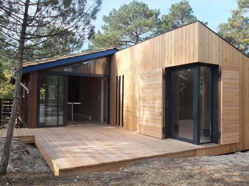 Extension et r am nagement int rieur d 39 une maison bois bordeaux une r alisation de alexandre - Extension cuisine sur jardin ...