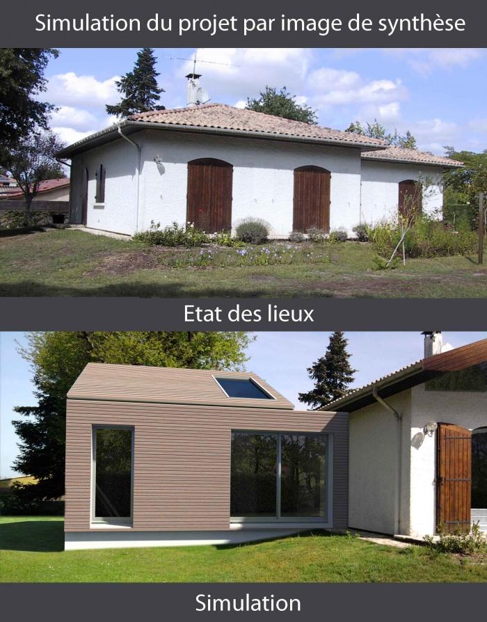 Architectes extension de plain pied saint for Plan d agrandissement de maison