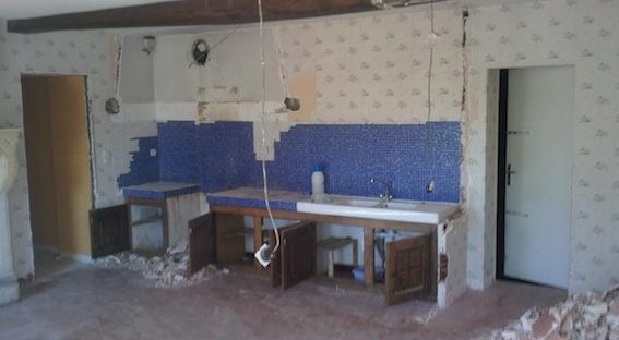 Rénovation d'une maison d'habitation : Démolition de l'existant