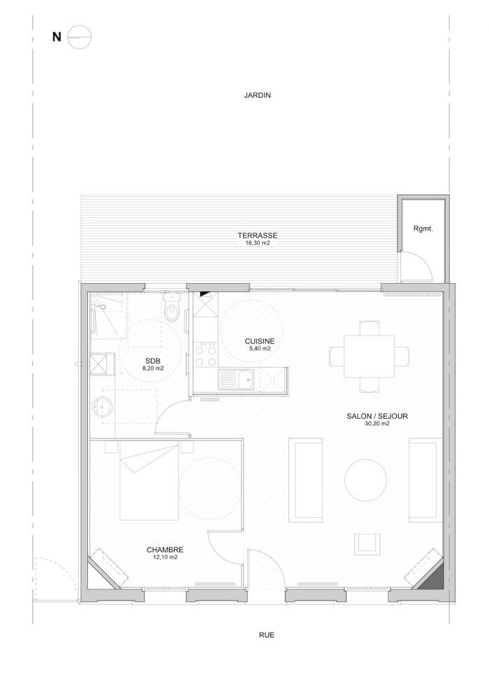 Rénovation échoppe W : Plan projet