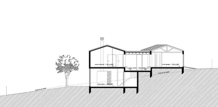 architectes maison dans la pente soyaux. Black Bedroom Furniture Sets. Home Design Ideas