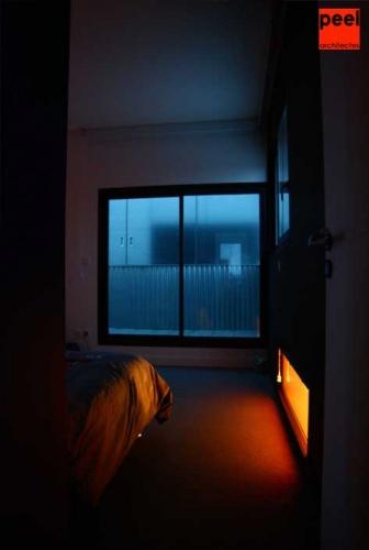 Loft Noir et Blanc : à la tombée de la nuit