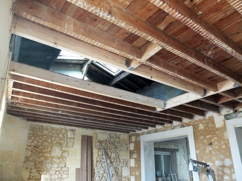 Architectes r habilitation d 39 une b tisse en pierre bordeaux - Ouverture tremie plancher bois ...
