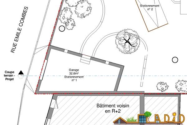 Extension/surélévation d'une ancienne écurie/garage : 13-020 - Existant - RDC