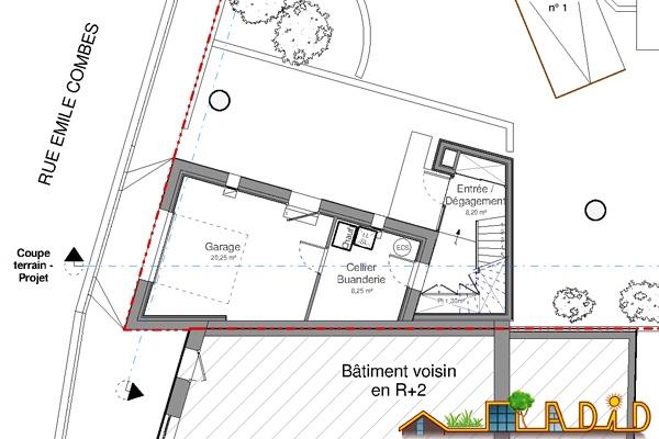 Extension/surélévation d'une ancienne écurie/garage : 13-020 - Projet - RDC