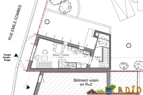 Extension/surélévation d'une ancienne écurie/garage : 13-020 - Projet - R+1