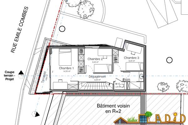 Extension/surélévation d'une ancienne écurie/garage : 13-020 - Projet - R+2