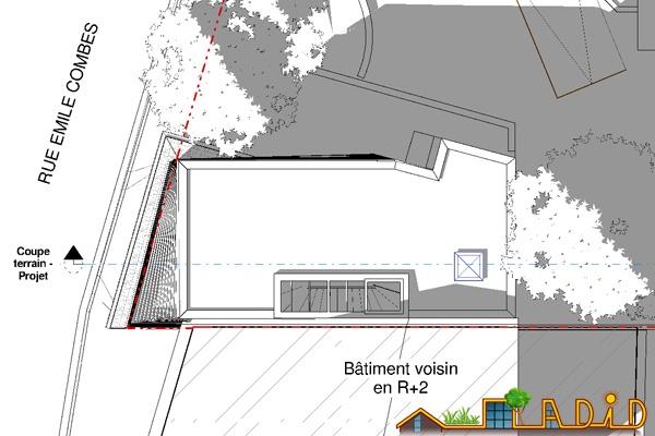 Extension/surélévation d'une ancienne écurie/garage : 13-020 - Projet - Toiture
