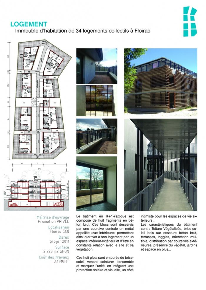 Immeuble d'habitation de 34 logements collectifs