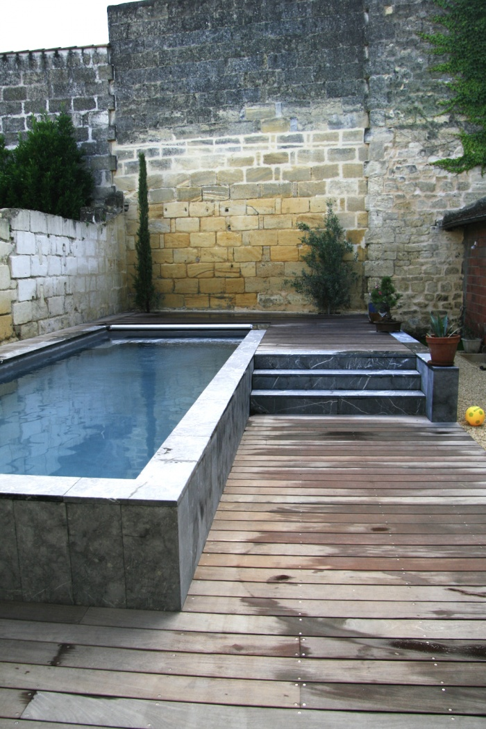 R habilitation d 39 une maison de ville cr ation d 39 un - Mini piscine spa de nage ...