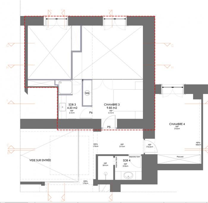 Réhabilitation d'un appartement : etage