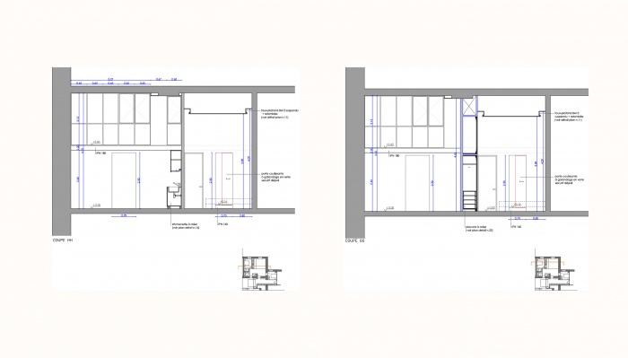 Réhabilitation d'un appartement : 5 coupe projet