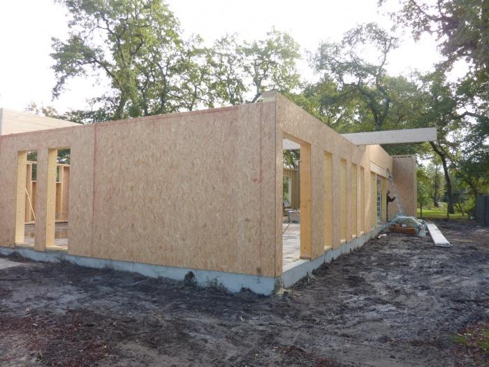Extension d'une Ecole : Murs ossature bois