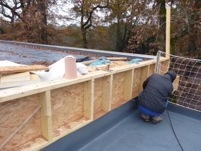 Extension d'une Ecole : Etanchéité de la toiture