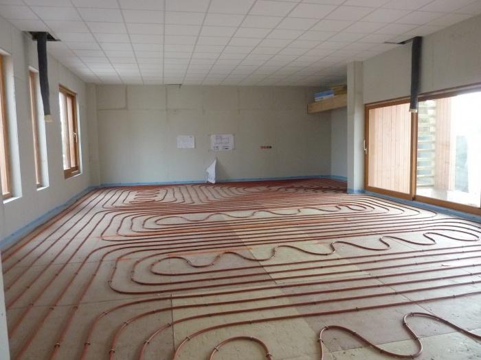 Extension d'une Ecole : plancher chauffant