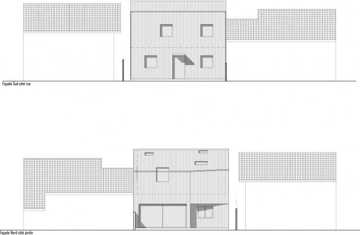 Maison au Bouscat : COM TEIXERON FACADES SUD NORD