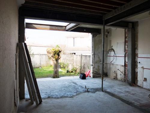Architectes r habilitation d 39 une maison de ville bordeaux - Baie vitree 6 metres ...
