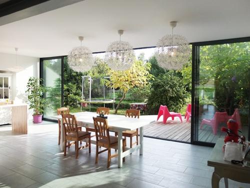 Extension bois et réaménagement intérieur d'une maison individuelle