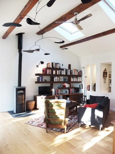 Réhabilitation de deux maisons jumelles : 4. salon vers niche