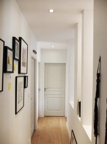 Réhabilitation de deux maisons jumelles : 7. couloir niche