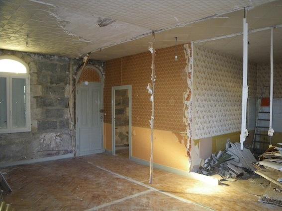 Rénovation échoppe W : Démolition intérieure