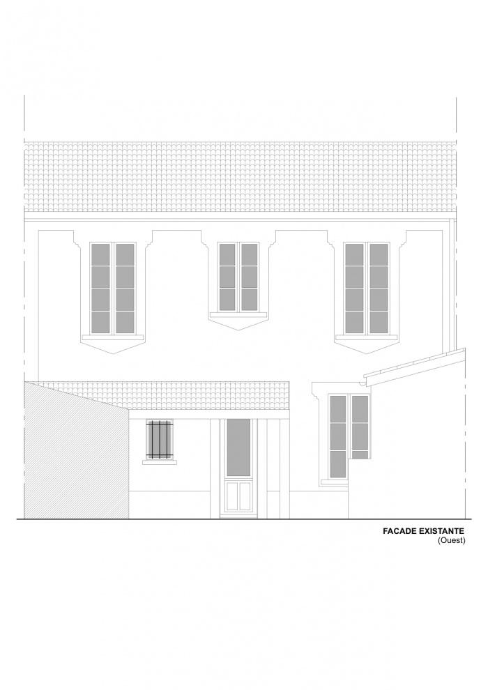 Rénovation échoppe F : Façade état des lieux