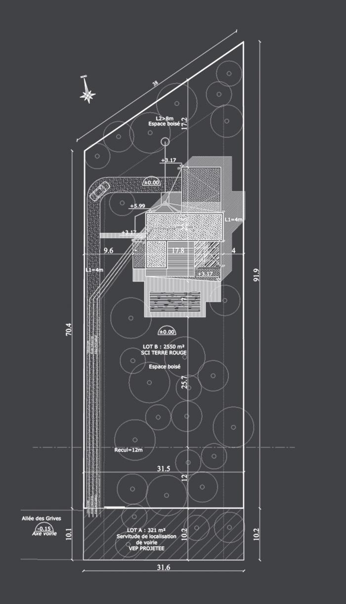 Maison S : Plan masse projet