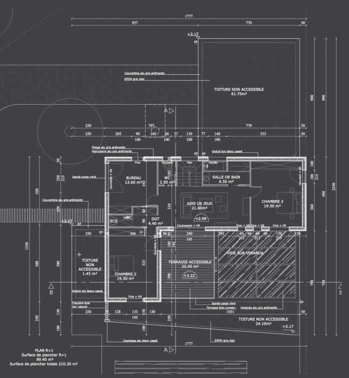 Maison S : Plan R+1 projet