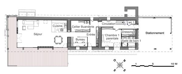 plan maison longere gratuit