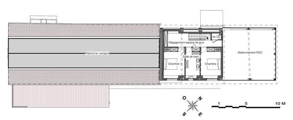 Réhabilitation d'une « Longère » en maison autonome à Cadillac : 13-025 - Plan R+1-WEB