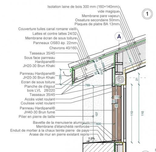 Intégration d'une maison neuve dans une ferme désafectée : 13-027 - PRO-DCE - DETAILS-1