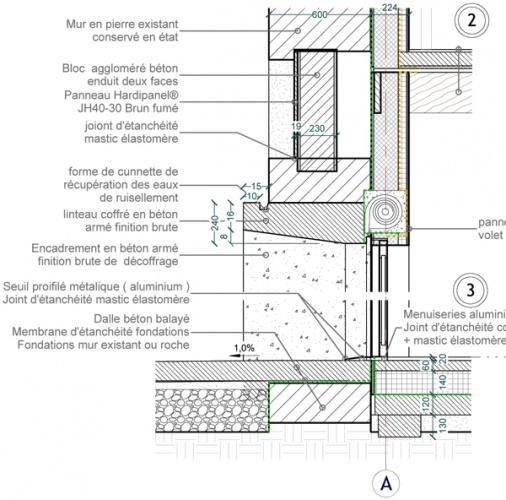 Intégration d'une maison neuve dans une ferme désafectée : 13-027 - PRO-DCE - DETAILS-2
