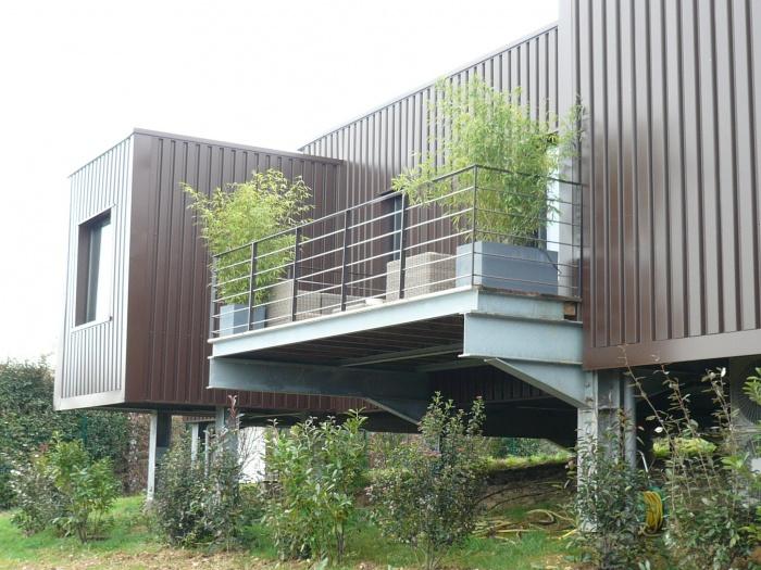 Maison R : terrasse salon
