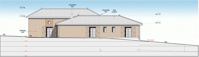 Réhabilitation et extension d'une maison individuelle : f2