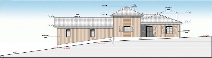 Réhabilitation et extension d'une maison individuelle : f3