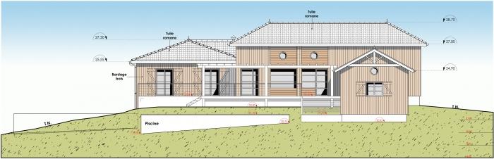 Réhabilitation et extension d'une maison individuelle : f1