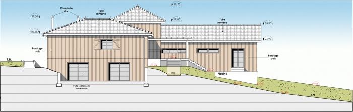 Réhabilitation et extension d'une maison individuelle : f4